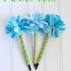 Girls Camp Craft: No-Sew Flower Pen Tutorial
