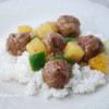 Waikiki Meatballs {Sweet and Sour Meatballs}