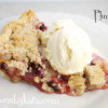 Plum Pie with Crumb Topping