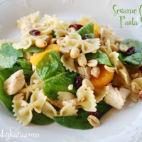 Sesame Chicken Salad-a Lighter Version