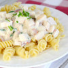 Chicken Alfredo with Bacon and Spinach