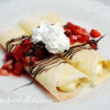 Strawberry Cheesecake Crepes with Nutella