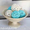 DIY Spray Paint Decor Balls