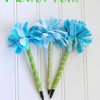 Girls Camp Craft: No-Sew Flower Pen Tutorial