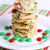 Christmas Cookies: Chewy M&M Chocolate Chip Cookies