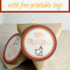 Thanksgiving Treat Bags with Free Printable Tags