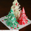 Easy Christmas Decorations: Wrapping Paper Christmas Trees