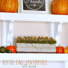 Rustic Fall Centerpiece with Acorns
