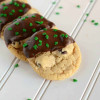 Dipped Chocolate Chip Cookies {For St. Patrick's Day}