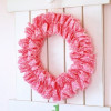 Easiest Ever Ruffle Wreath!