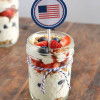Mini Berry Cheesecake Trifles for the 4th of July