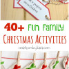 Christmas Activities Advent Calendar Ideas {Free Printable}