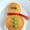 Christmas Snowman Pancakes