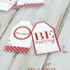 Red and White Christmas Gift Tags {Free Printable}