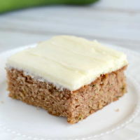 Zucchini Spice Cake with Cream Cheese Frosting Recipe