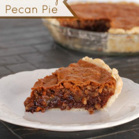 Chocolate Chip Pie with Pecans