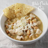 White Chicken Chili-- Frugal Friday Edition