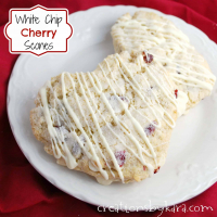 White Chip Cherry Scones (Perfect for Valentine's Day!)