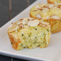 Lime Zucchini Muffins with Almond Sugar Topping