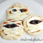 Halloween Recipe #1: Mummy Pizzas