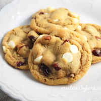 White Chocolate Macadamia Nut Cookies with Cranberries