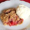 Raspberry Rhubarb Crisp