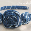 Dollar Store Denim Rosette Headband Tutorial