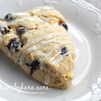 Blueberry Lemon Scones with Lemon Glaze