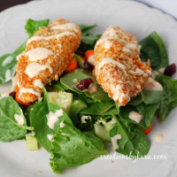 Spicy Hot Wing Chicken Salad