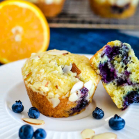 Crumb Topped Blueberry Orange Muffins Recipe