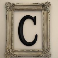 Framed Monogram {DIY Decorating}