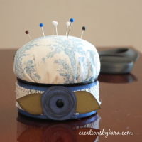 Tuna Can Pin Cushion-Recycling at it's best!