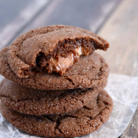 Chocolate Rolo Cookies Recipe