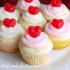 Cherry Cheesecake Cupcakes for Valentine's Day