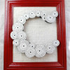 Framed Monogram with Paper Flowers