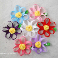 Hair Bow How To--Loopy Ribbon Flower Tutorial
