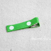 Hair Bow How To-- Lining an Alligator Clip
