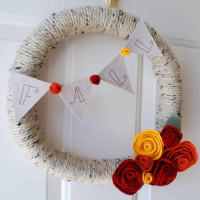Yarn Fall Wreath