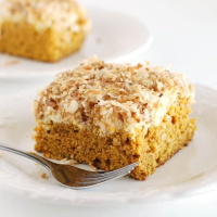 Pumpkin Coffee Cake with Cream Cheese Topping