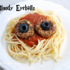 Halloween Recipe- Bloody Eyeballs {Meatballs}