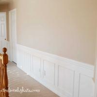 DIY Hallway Wainscoting Reveal