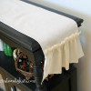 DIY Shabby Chic Ruffled Table Runner Tutorial