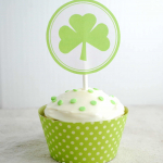 St. Patrick's Day Cupcake Toppers--Free Printable