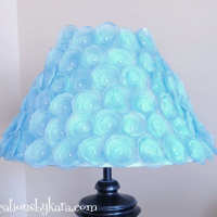 Flower Lampshade {Thrifty Decorating}