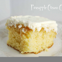Pineapple Cake with Pudding Frosting