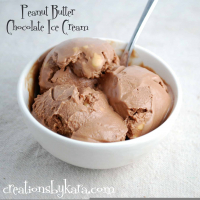 Double Peanut Butter Chocolate Ice Cream {Recipe}