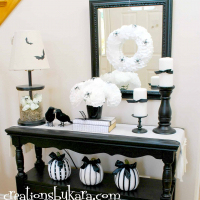 Black and White Halloween Display