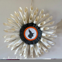Halloween Book Page Wreath