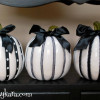 Halloween Decor- Black and White Pumpkins