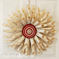 Christmas Book Page Wreath {DIY Decor}